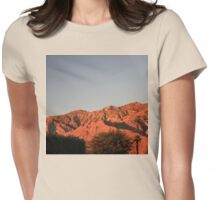 San Jacinto Sunset Womens Fitted T-Shirt
