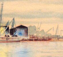 Sponge Docks At Tarpon Springs Florida Sticker