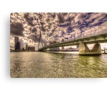Bridge over Rotterdam  Canvas Print