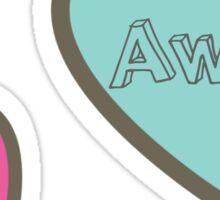 Go Away Hearts Design Sticker