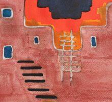 Pueblito original painting Sticker