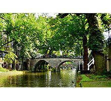 Utrecht bridges Photographic Print