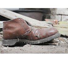 Old shoe Photographic Print