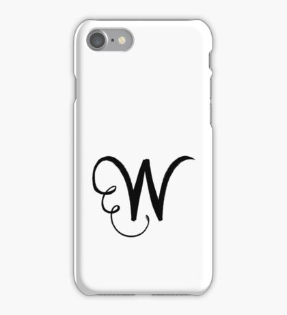 The Letter W iPhone Case/Skin