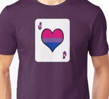 Ace Spectrum Playing Cards: Bi-romantic Unisex T-Shirt