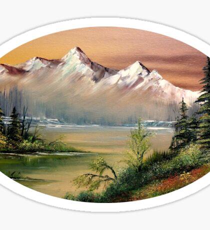 Prince William Sound Alaska Springtime Sticker