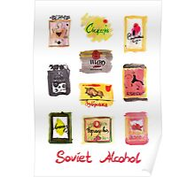 Soviet Alcohol Labels Poster