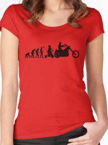Motorcycle Evolution Women's Fitted Scoop T-Shirt
