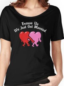 Funny Just Married Women's Relaxed Fit T-Shirt