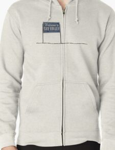 Welcome to Sky Valley - sign Zipped Hoodie