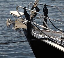 anchor on a sailing yacht by mrivserg