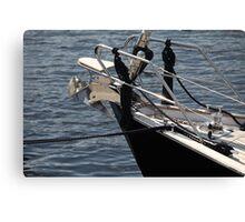 anchor on a sailing yacht Canvas Print
