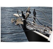 anchor on a sailing yacht Poster