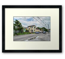 Mount Royal Avenue & Rosetta Street in Nassau, The Bahamas Framed Print