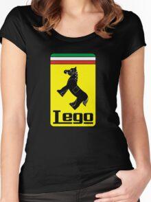 The Lego Ferrari Logo Women's Fitted Scoop T-Shirt