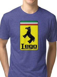 The Lego Ferrari Logo Tri-blend T-Shirt
