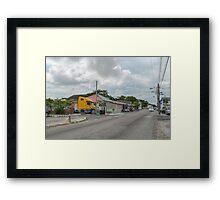 Mount Royal Avenue & Tenwich Street in Nassau, The Bahamas Framed Print