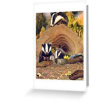 The Badger's Sett Greeting Card