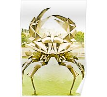 untitled - stainless steel crab Poster
