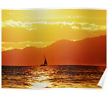 Sun sets on English Bay Poster