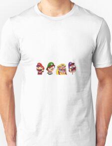 Mario Luigi Wario and Waluigi T-Shirt