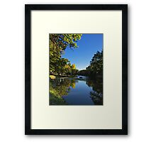 Splash of Fall Framed Print