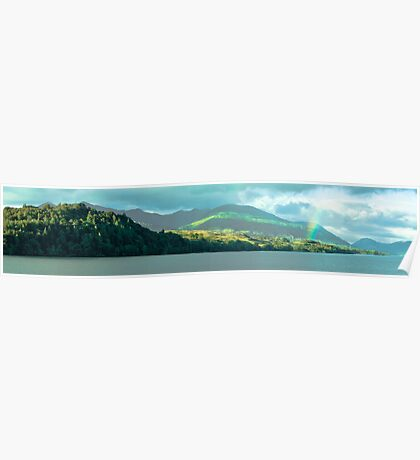 Rainbow Over Loch Awe Poster
