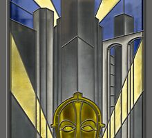 Metropolis Poster in Stained Glass (False Color) by zoidberg69