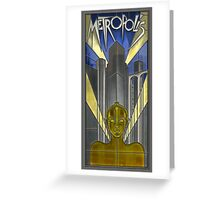 Metropolis Poster in Stained Glass (False Color) Greeting Card