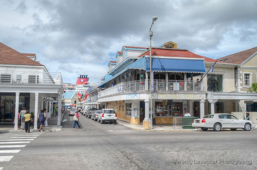 Bay Street & Frederick Street in Downtown Nassau, The Bahamas by Jeremy Lavender Photography