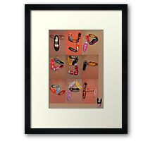 typography SHOES!!!! Framed Print
