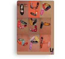 typography SHOES!!!! Canvas Print