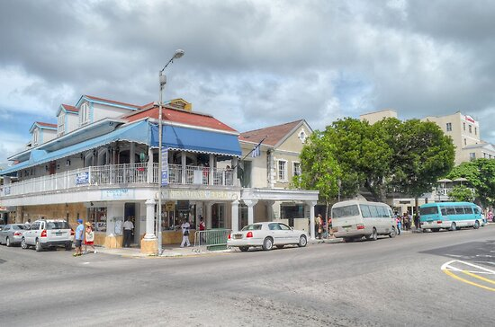 Bay Street in Downtown Nassau, The Bahamas by Jeremy Lavender Photography