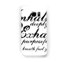 Yoga Breath Samsung Galaxy Case/Skin
