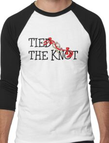 Tied The Knot Just Married Men's Baseball ¾ T-Shirt