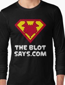 The Blot Shield (White) Long Sleeve T-Shirt