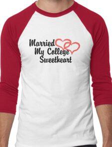 Married My College Sweetheart Men's Baseball ¾ T-Shirt