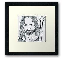 Aragorn King of Gondor Framed Print