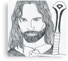 Aragorn King of Gondor Canvas Print