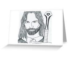 Aragorn King of Gondor Greeting Card