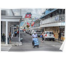 Frederick Street in Downtown Nassau, The Bahamas Poster