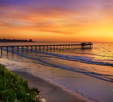 Scripps Pier Sunset by jswolfphoto