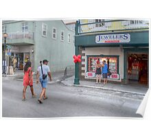 Shopping on Bay Street in Downtown Nassau, The Bahamas Poster