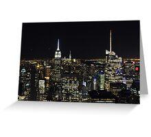 Skyline New York by night Greeting Card