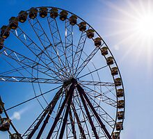 Ferris Wheel - Midday Sun by Joel McDonald