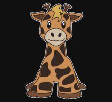 giraffe cute animal One Piece - Short Sleeve