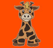 giraffe cute animal Kids Clothes