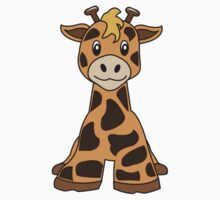giraffe cute animal Kids Tee