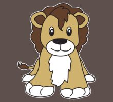 lion cute animal One Piece - Short Sleeve