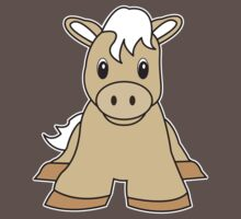 pony cute animal One Piece - Short Sleeve